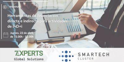 Webinar: Herramientas de financiación directa e indirecta para actividades de I+D+i