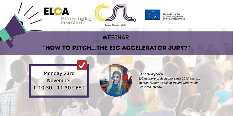 "Webinar ""How to pitch... the EIC accelerator jury?"""